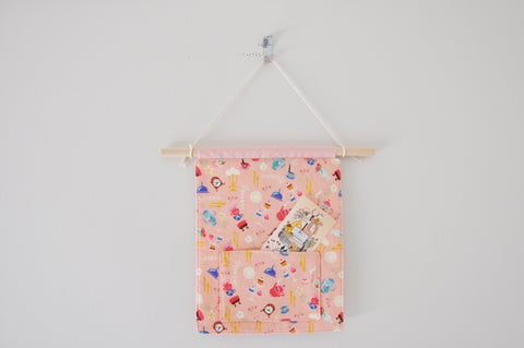 Objects In Pink Pin & Bookmark Display Banner