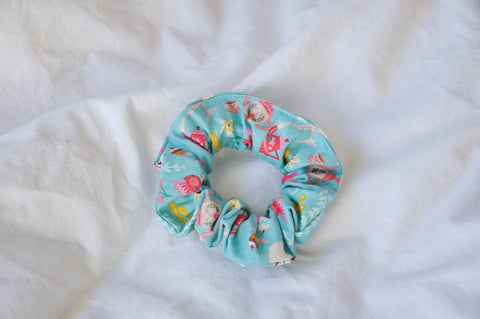 Objects In Blue Scrunchie