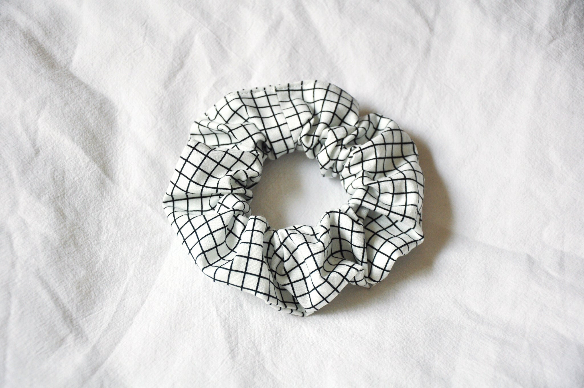Crossword Grid Scrunchie
