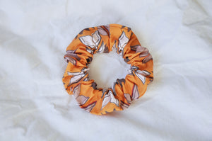 Golden Bookish Bouquets Scrunchie