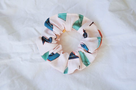 Scattered Books Pink Scrunchie