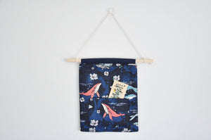 Navy Whales Pin & Bookmark Display Banner