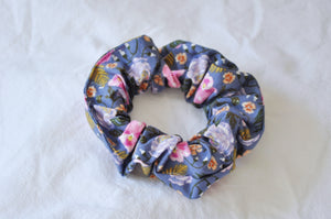 Purple Pansies Scrunchie
