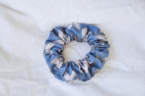 Blue Bookish Bouquets Scrunchie