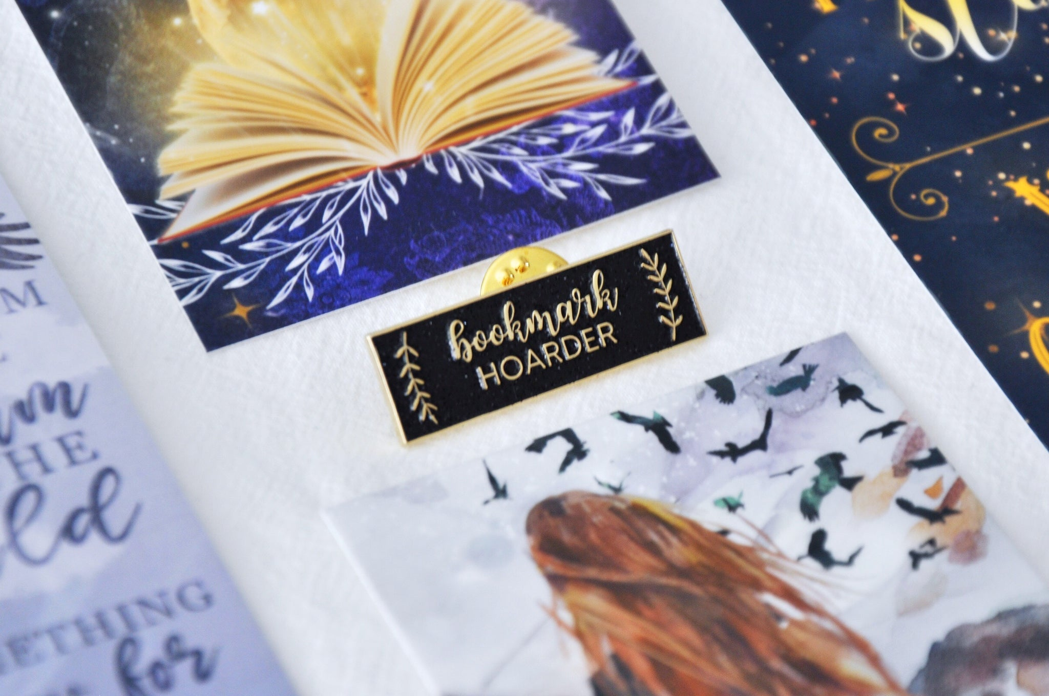 Bookmark Hoarder Enamel Pin