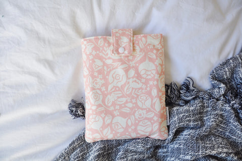 Rose Garden Pink Book Sleeve
