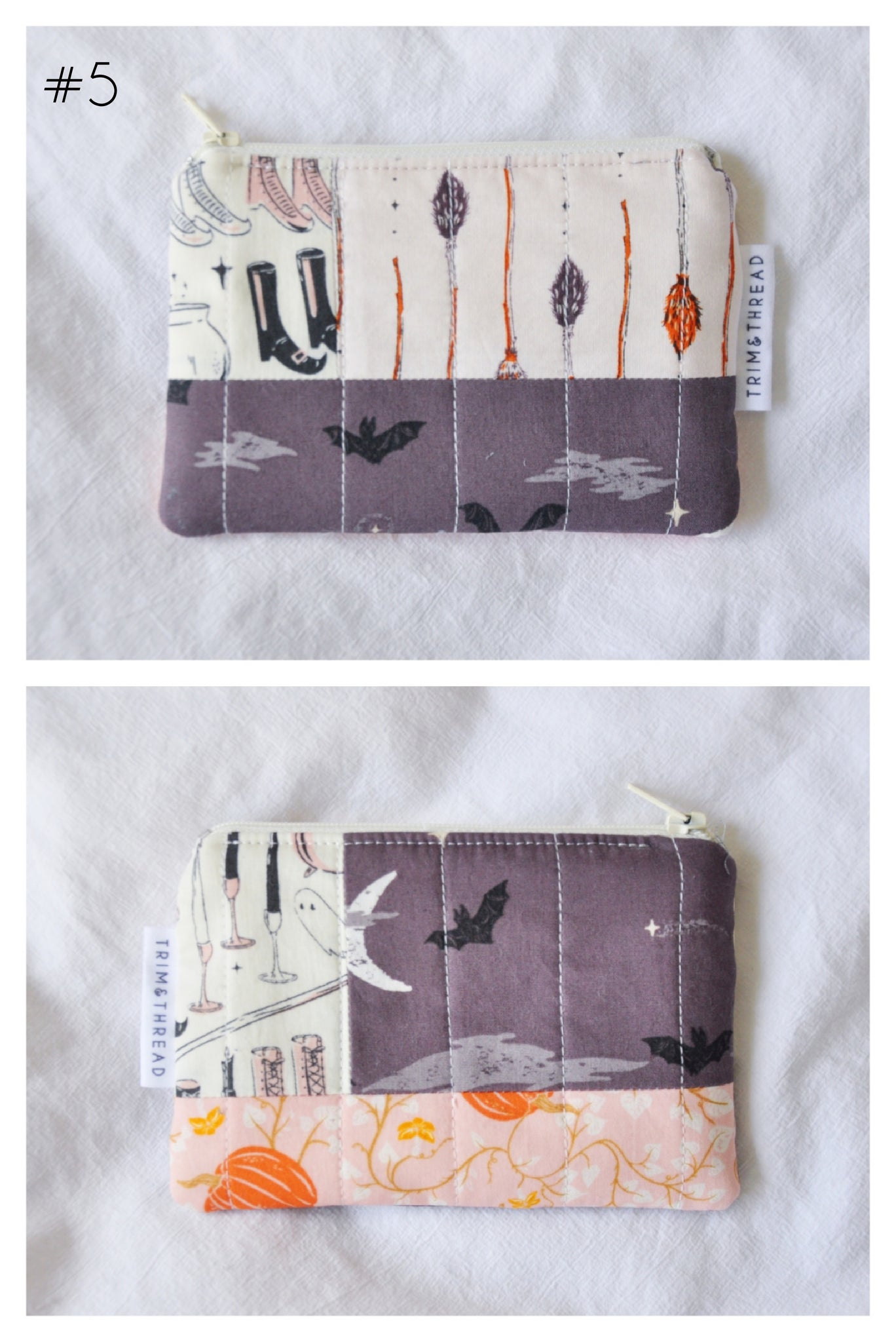 "Scrappy Quilted Coin Pouches - ""Spooky & Sweet"" Edition"