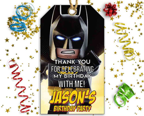 Lego Batman Thank You Tags