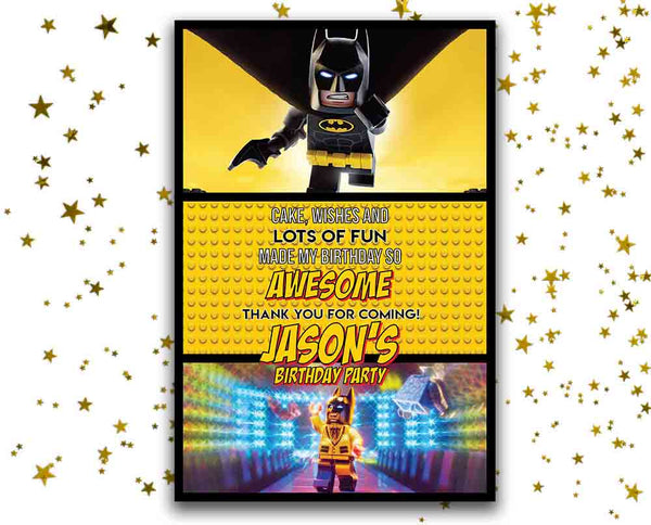 Lego Batman Thank You Cards