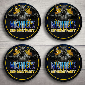 Black Panther Cupcake Toppers