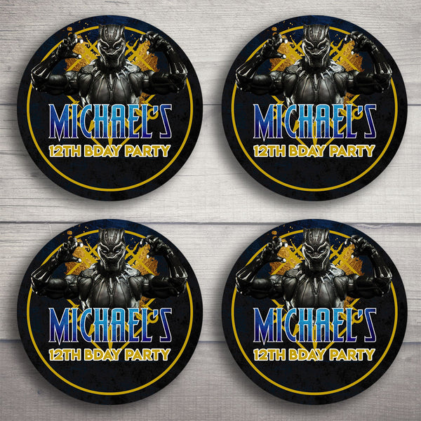 Black Panther Printable Cupcake Toppers (Customized)