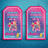 Jojo Siwa Printable Favor Bag Tags (Customized)