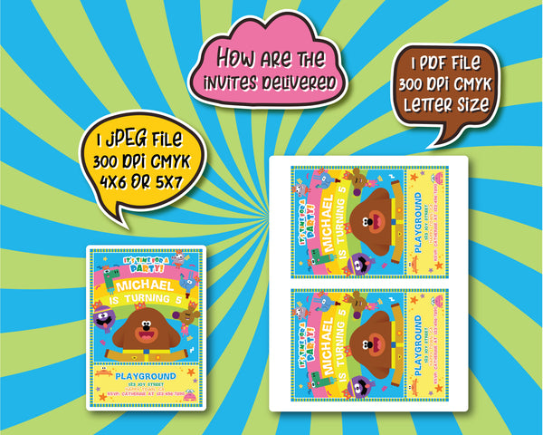 Hey Duggee Invitation Template