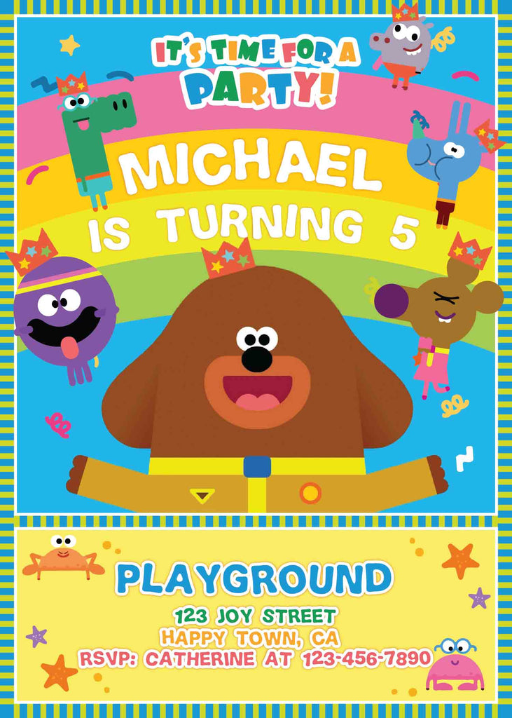 how to make hey duggee birthday invites