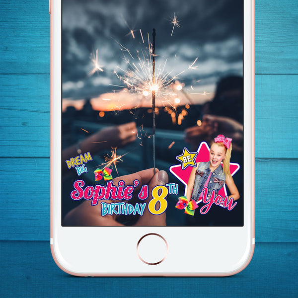 Jojo Siwa Birthday Snapchat Filter (Customized)