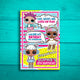 LOL Surprise Dolls Printable Thank You Card (Customized)