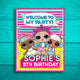 LOL Surprise Dolls Printable Birthday Welcome Sign (Customized)