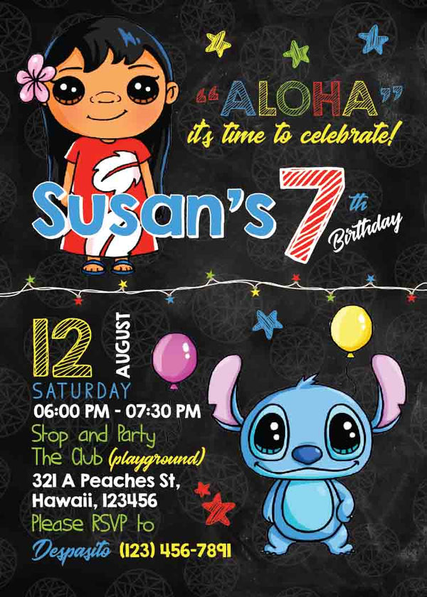 Lilo and Stitch Invitation