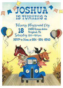 Little Blue Truck Invitation