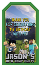 Minecraft Thank You Stickers