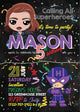 Black Widow Birthday Invitation Template