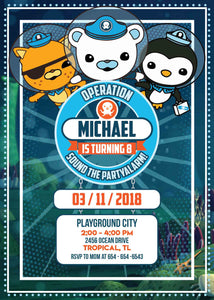 Octonauts Invitation