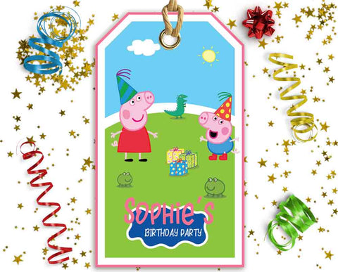 Peppa Pig Favor Tags