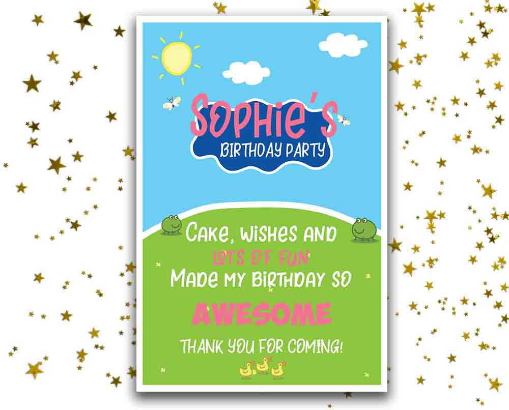 Peppa Pig Thank You Cards Peppa Pig Party Supplies Birthday Prints