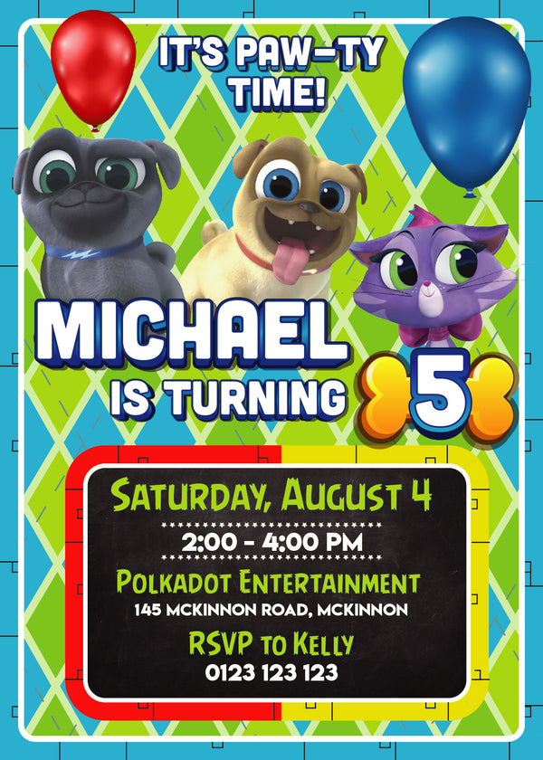 Puppy Dog Pals Custom Invitation