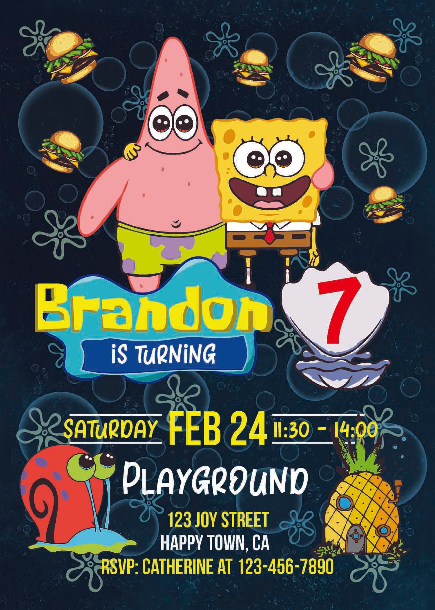 Spongebob Party Invitations Spongebob Party Invitation Template