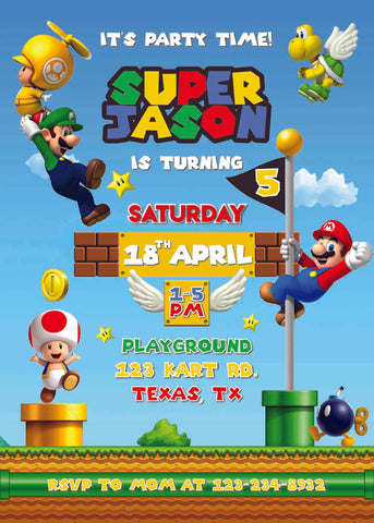Super Mario Invitation