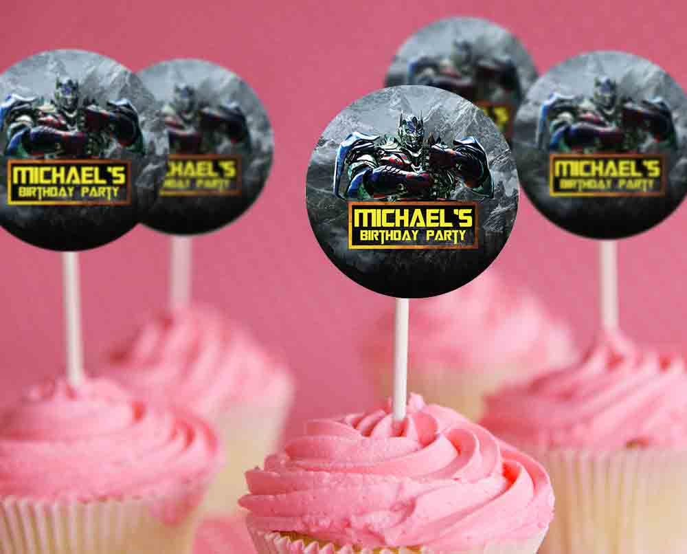 Printable Transformer Cupcake Toppers