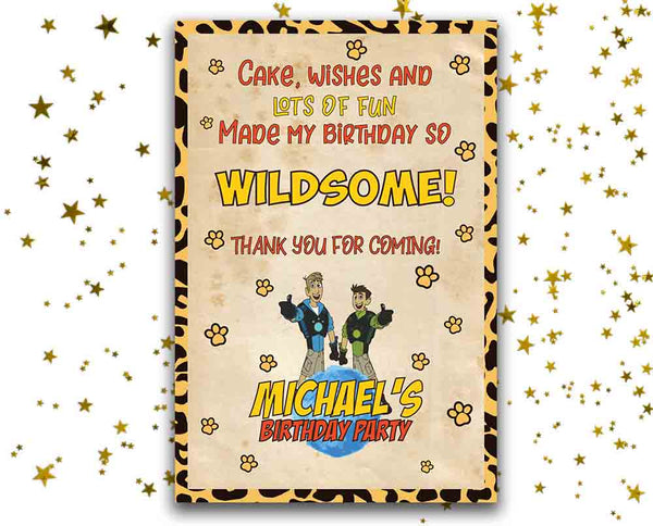 Wild Kratts Card