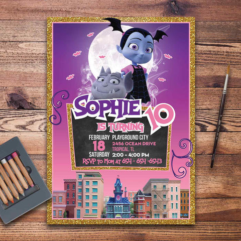 Vampirina Invitation Template