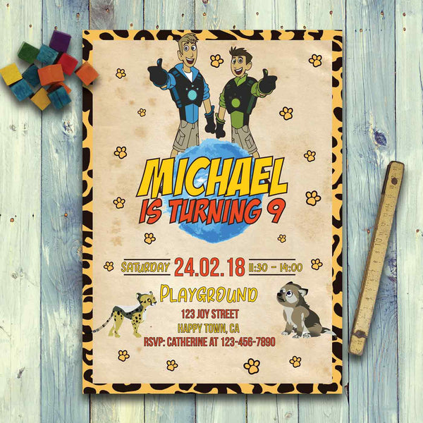 Wild Kratts Invitation Template