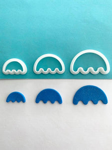 Wiggly Base Semi Circle Shape Cutter Set