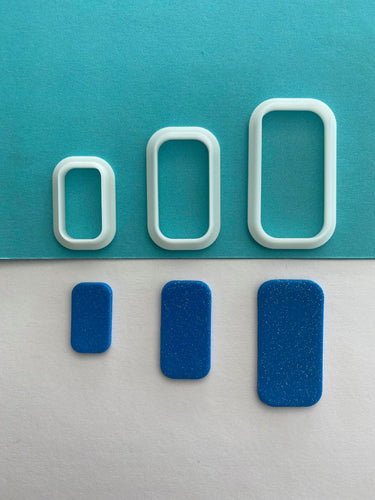Curved Edge Rectangle Shape Cutter Set