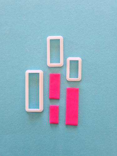 Thin Rectangle Shape Cutter Set