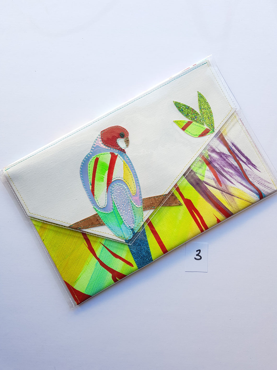 Pine and Apple Large Rosella Clutch 3