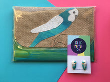 DISPATCH DEAL Pine and Apple Small Budgie Clutch + Blue Budgies