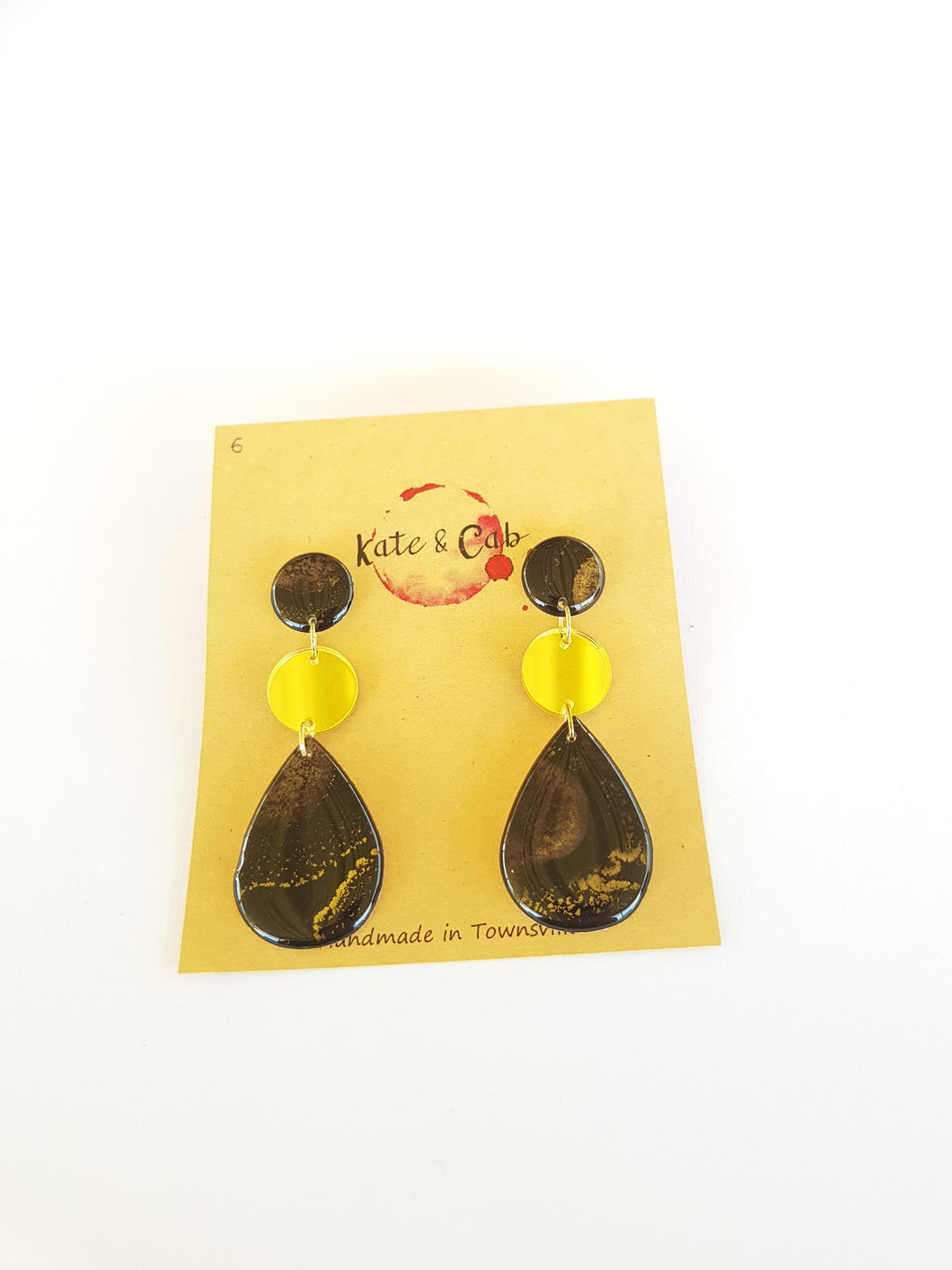 Three Piece Tear Drop Dangle Earrings 6