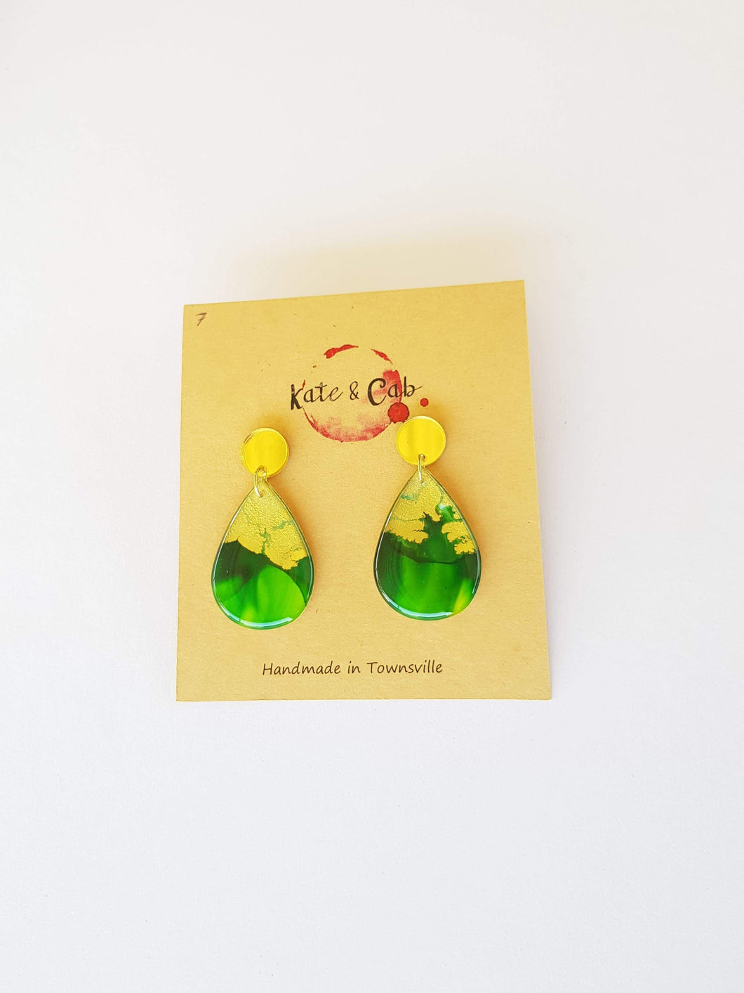 Two Piece Tear Drop Dangle Earrings 7
