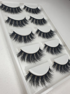 """@AAFBEAUTY"" 3D Mink Lashes 5pack"