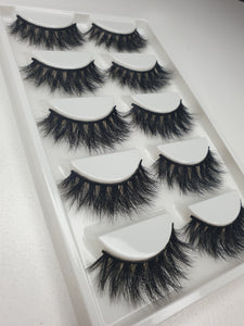 """@MAKEUPBYNICOLEJANE_"" 3D Mink Lashes 5pack"