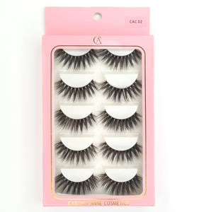 "5pk ""CAC 02"" 3D Silk Lashes"