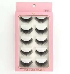 "5pk ""CAC 51"" 3D Silk Lashes"