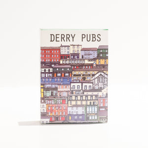 Derry pubs, derry playing cards, Pub prints, Derry city, Londonderry, hand illustrated