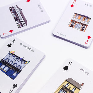 Playing cards, Irish playing cards, Derry city, Londonderry, hand illustrated