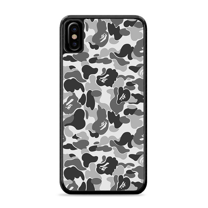Bape Camo Grey iPhone Xs Case | Caserisa
