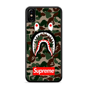 Bape Camo Shark Face Logo iPhone Xs Case | Caserisa